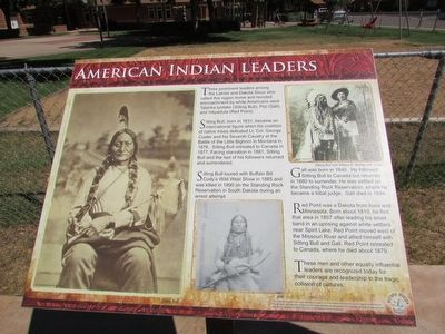 American Indian Leaders Marker image. Click for full size.