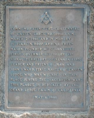 Lassen Lodge No. 149 F.&A.M Marker image. Click for full size.
