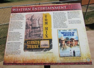 Western Entertainment Marker image. Click for full size.
