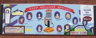 Homemaker Hosts Mural on KMA Radio Station Wall image. Click for full size.
