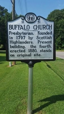 Buffalo Church Marker image. Click for full size.