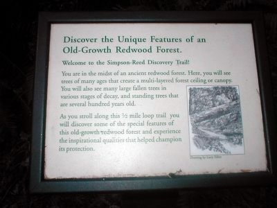 Simpson-Reed Discovery Trail Marker image. Click for full size.