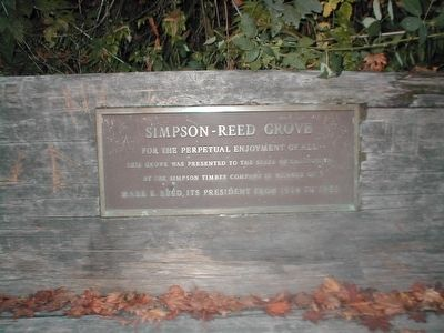 Simpson-Reed Grove Marker image. Click for full size.