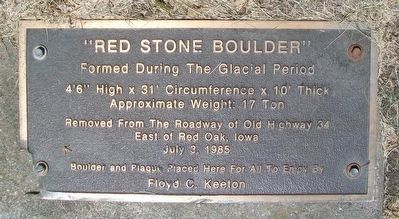 """Red Stone Boulder"" Marker image. Click for full size."