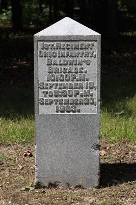1st Ohio Infantry Marker image. Click for full size.