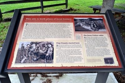 This Site is Birth Place of Local History Marker image. Click for full size.
