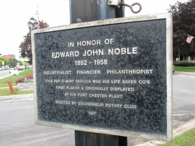 In Honor of Edward John Noble Marker image. Click for full size.