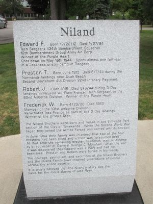 Niland Inscription image. Click for full size.
