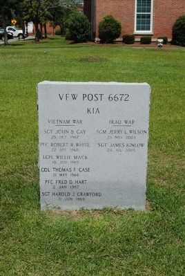 VFW Post 6672 KIA Monument Marker image. Click for full size.