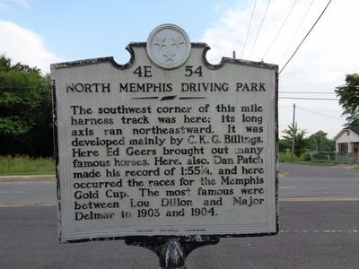 North Memphis Driving Park Marker image. Click for full size.