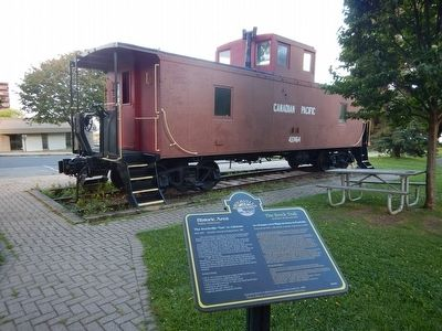 "Wideview of The Brockville ""Van"" or Caboose Marker image. Click for full size."