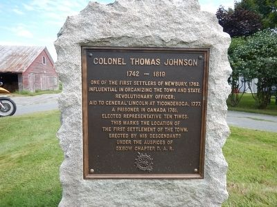 Colonel Thomas Johnson Marker image. Click for full size.