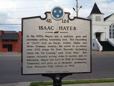 Isaac Hayes Marker image. Click for full size.