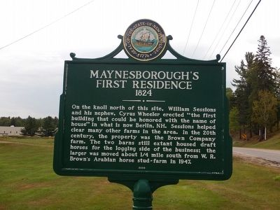 Maynesborough's First Residence Marker image. Click for full size.