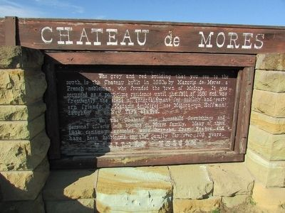 Chateau de Mores Marker image. Click for full size.