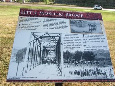 Little Missouri Bridge Marker image. Click for full size.