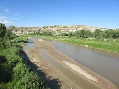 Little Missouri River as seen from the Bridge image. Click for full size.