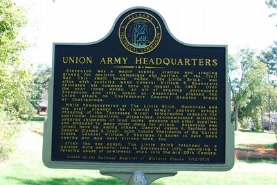 Union Army Headquarters Marker image. Click for full size.