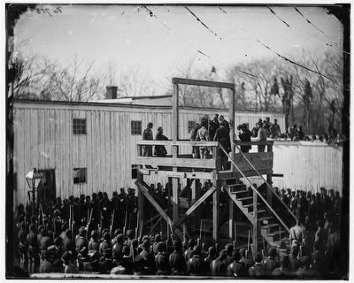 [Washington, D.C. Adjusting the rope for the execution of Wirz] image. Click for full size.