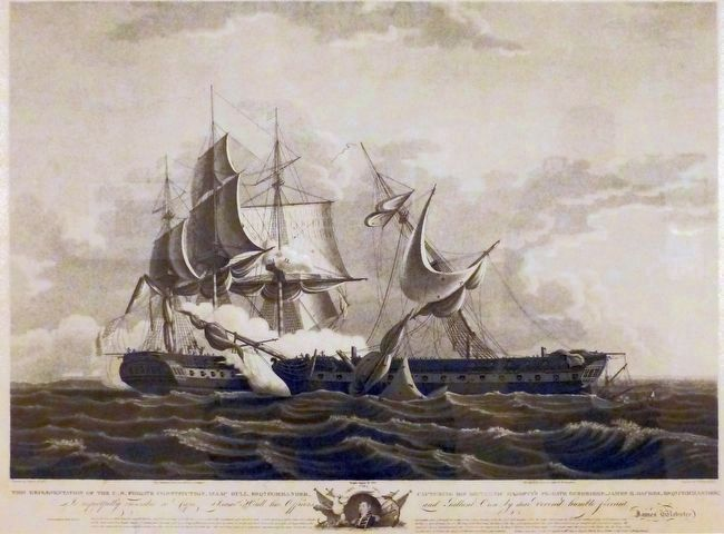 USS frigate Constitution with Commander Isaac Hull image. Click for full size.