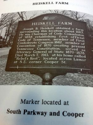 Heiskell Farm Marker image. Click for full size.