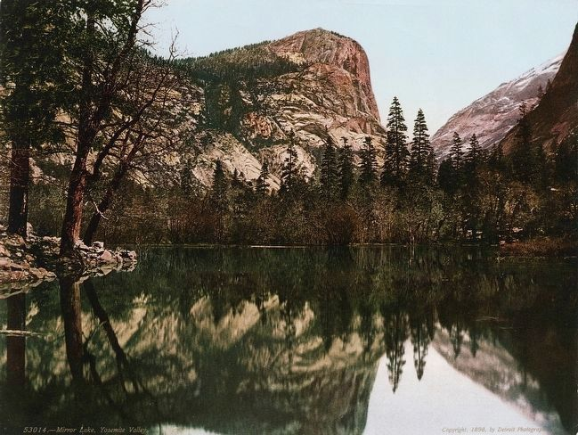 <i>Mirror Lake, Yosemite Valley.</i> image. Click for full size.