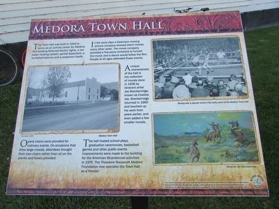 Medora Town Hall Marker image. Click for full size.