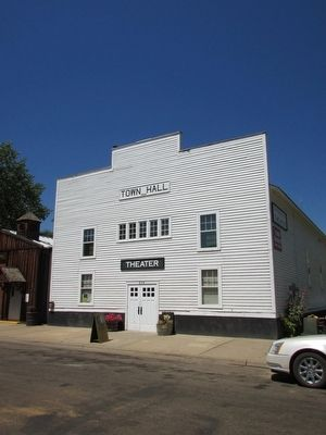 Medora Town Hall image. Click for full size.