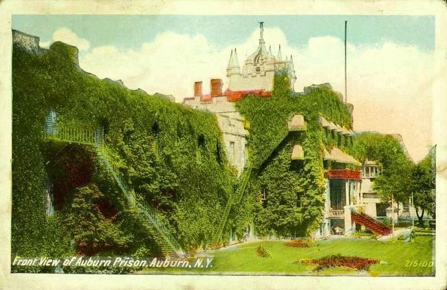 <i>Front View of Auburn Prison, Auburn, N.Y.</i> image. Click for full size.