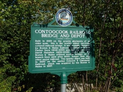 Contoocook Railroad Bridge and Depot Marker image. Click for full size.
