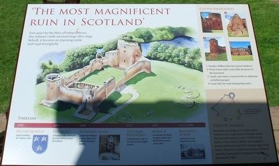 'The Most Magnificent Ruin in Scotland' Marker image. Click for full size.