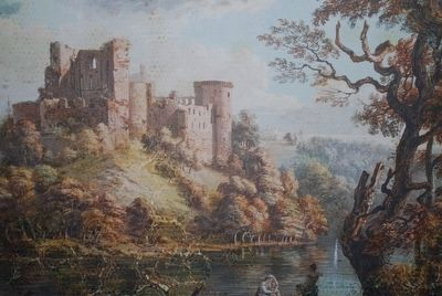 Bothwell Castle Painting image. Click for full size.