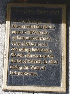 The Bute Memorial Marker image. Click for full size.