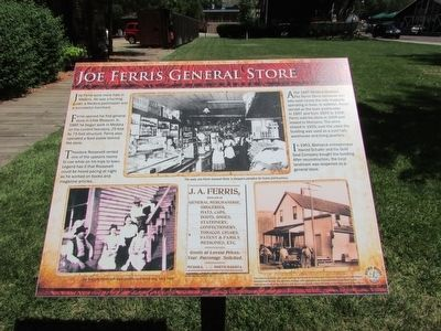 Joe Ferris General Store Marker image. Click for full size.