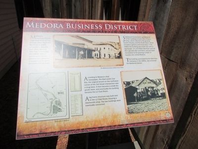 Medora Business District Marker image. Click for full size.