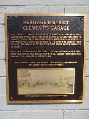 Clement's Garage Marker image. Click for full size.