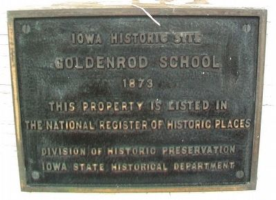 Goldenrod School NRHP Marker image. Click for full size.