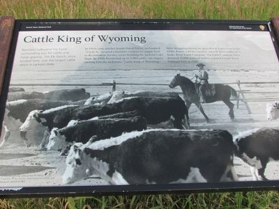 Cattle King of Wyoming Marker image. Click for full size.