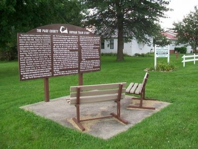 The Page County Orphan Train Story Marker image. Click for full size.