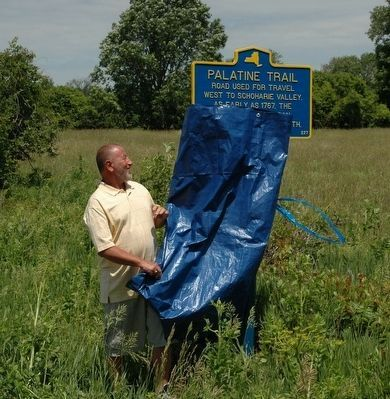 Palatine Trail Marker Unveiled image. Click for full size.