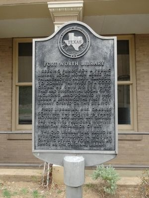Fort Worth Library Marker image. Click for full size.