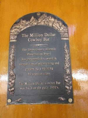 The Million Dollar Cowboy Bar Marker image. Click for full size.
