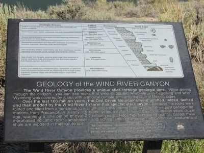 Geology of the Wind River Canyon Marker image. Click for full size.