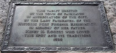 In Memory of Henry H. Rogers Plaque image. Click for full size.