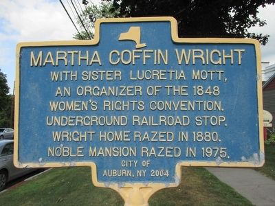 Martha Coffin Wright Marker image. Click for full size.