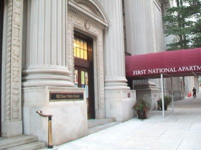 The First National Bank Building and Marker image. Click for full size.