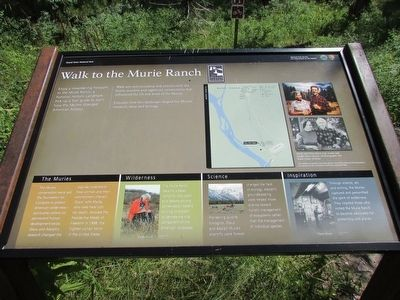 Walk to the Murie Ranch Marker image. Click for full size.