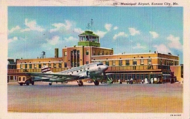 <I>Municpal Airport, Kansas City, Mo.</i> image. Click for full size.