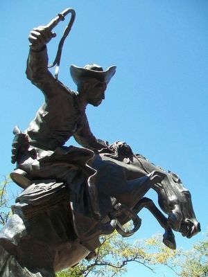 """Bronco Buster"" Sculpture image. Click for full size."