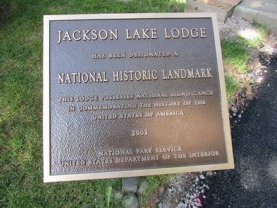 Jackson Lake Lodge Marker image. Click for full size.